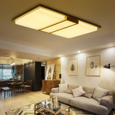Oblong Light-adjustable Ceiling LightFlush Ceiling Lights<br>Oblong Light-adjustable Ceiling Light<br><br>Features: Remote-Controlled<br>Illumination Field: 15 - 20sqm<br>Luminous Flux: 6000lm<br>Optional Light Color: Warm White + White<br>Package Contents: 1 x Ceiling Light, 1 x Remote Controller<br>Package size (L x W x H): 95.50 x 77.00 x 15.00 cm / 37.6 x 30.31 x 5.91 inches<br>Package weight: 6.0400 kg<br>Product size (L x W x H): 85.50 x 67.00 x 10.00 cm / 33.66 x 26.38 x 3.94 inches<br>Product weight: 5.0000 kg<br>Sheathing Material: Acrylic<br>Type: Ceiling Lights<br>Voltage (V): 220V<br>Wattage (W): &gt;20<br>Wavelength / CCT: 3000K,6500K