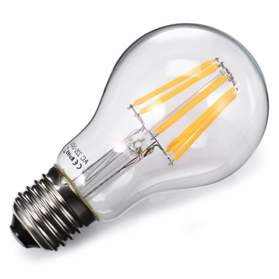 AC 85 -265V 8W E27 19A 650Lm 2700K LED Filament BulbGlobe bulbs<br>AC 85 -265V 8W E27 19A 650Lm 2700K LED Filament Bulb<br><br>Available Light Color: Warm White<br>CCT/Wavelength: 2700K<br>Features: Energy Saving, Long Life Expectancy<br>Function: Home Lighting, Commercial Lighting<br>Holder: E27<br>Luminous Flux: 650Lm<br>Package Contents: 1 x E27 A19 LED Filament Bulb<br>Package size (L x W x H): 6.40 x 6.40 x 13.00 cm / 2.52 x 2.52 x 5.12 inches<br>Package weight: 0.0800 kg<br>Product weight: 0.0350 kg<br>Sheathing Material: Aluminum, Glass<br>Type: Ball Bulbs<br>Voltage (V): AC 85-265