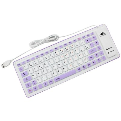 85-key Wired Silent Waterproof USB Silicone Roll-up Keyboard