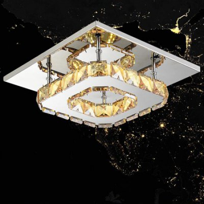 Stylish Quadratic Crystal Ceiling Light 220VFlush Ceiling Lights<br>Stylish Quadratic Crystal Ceiling Light 220V<br><br>Features: Square Shape<br>Illumination Field: 10sqm<br>Luminous Flux: 1000lm<br>Package Contents: 1 x Ceiling Light<br>Package size (L x W x H): 25.00 x 25.00 x 13.00 cm / 9.84 x 9.84 x 5.12 inches<br>Package weight: 1.2500 kg<br>Product size (L x W x H): 21.00 x 21.00 x 8.00 cm / 8.27 x 8.27 x 3.15 inches<br>Product weight: 1.0000 kg<br>Sheathing Material: Crystal<br>Type: Ceiling Lights<br>Voltage (V): 220V<br>Wattage (W): 12