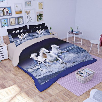5-piece Polyester Bedding Set Pretty Horse PatternBedding Sets<br>5-piece Polyester Bedding Set Pretty Horse Pattern<br><br>Package Contents: 2 x Pillowcase, 1 x Duvet Cover, 1 x Flat Sheet, 1 x Fitted Sheet<br>Package size (L x W x H): 40.00 x 30.00 x 4.00 cm / 15.75 x 11.81 x 1.57 inches<br>Package weight: 2.0500 kg<br>Pattern Type: Animal, Ocean<br>Product weight: 2.0000 kg<br>Style: Scenery / Landscape<br>Type: Double
