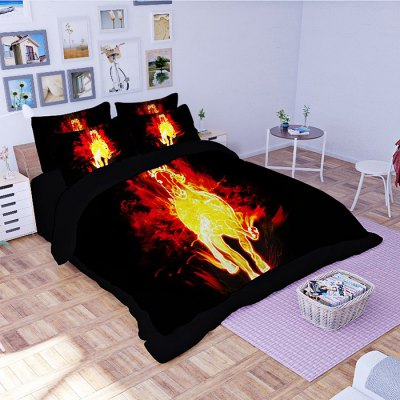 4-piece Polyester Bedding Set Fire Horse PatternBedding Sets<br>4-piece Polyester Bedding Set Fire Horse Pattern<br><br>Package Contents: 1 x Pillowcase, 1 x Duvet Cover, 1 x Flat Sheet, 1 x Fitted Sheet<br>Package size (L x W x H): 40.00 x 30.00 x 4.00 cm / 15.75 x 11.81 x 1.57 inches<br>Package weight: 1.5500 kg<br>Pattern Type: Animal<br>Product weight: 1.5000 kg<br>Type: Single