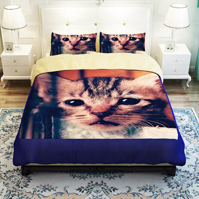 5-piece Polyester Bedding Set Cute Cat PatternBedding Sets<br>5-piece Polyester Bedding Set Cute Cat Pattern<br><br>Package Contents: 2 x Pillowcase, 1 x Duvet Cover, 1 x Flat Sheet, 1 x Fitted Sheet<br>Package size (L x W x H): 40.00 x 30.00 x 4.00 cm / 15.75 x 11.81 x 1.57 inches<br>Package weight: 2.2500 kg<br>Pattern Type: Animal<br>Product weight: 2.2000 kg<br>Type: Double