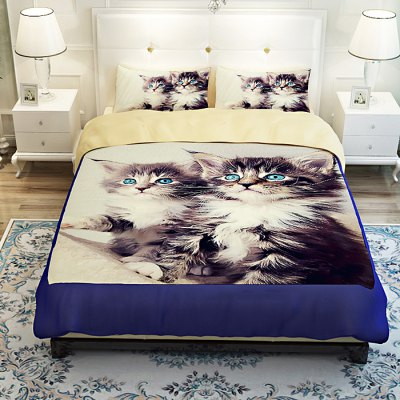 4-piece Polyester Bedding Set Maine Coon PatternBedding Sets<br>4-piece Polyester Bedding Set Maine Coon Pattern<br><br>Package Contents: 1 x Pillowcase, 1 x Duvet Cover, 1 x Flat Sheet, 1 x Fitted Sheet<br>Package size (L x W x H): 40.00 x 30.00 x 4.00 cm / 15.75 x 11.81 x 1.57 inches<br>Package weight: 1.5500 kg<br>Pattern Type: Animal<br>Product weight: 1.5000 kg<br>Type: Double