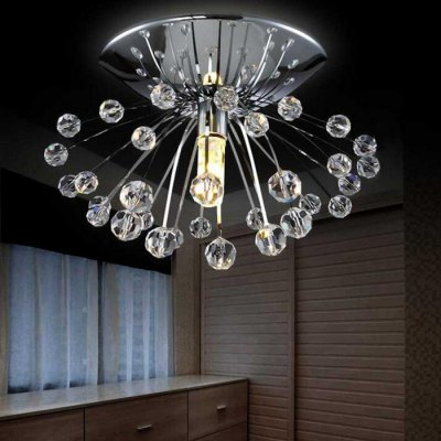 Creative Mini Crystal LED ChandelierPendant Light<br>Creative Mini Crystal LED Chandelier<br><br>Beam Angle: 360 degree<br>Bulb Base Type: G9<br>Bulb Included: No<br>Function: Home Lighting, Outdoor Lighting, Studio and Exhibition Lighting<br>Illumination Field: 5 - 10sqm<br>Package Contents: 1 x Chandelier<br>Package size (L x W x H): 18.00 x 18.00 x 10.00 cm / 7.09 x 7.09 x 3.94 inches<br>Package weight: 0.4500 kg<br>Product size (L x W x H): 15.00 x 15.00 x 7.00 cm / 5.91 x 5.91 x 2.76 inches<br>Product weight: 0.2500 kg<br>Quantity of Spots: 1<br>Sheathing Material: Crystal, Stainless Steel<br>Style: Transparent<br>Type: Chandeliers<br>Voltage (V): AC 220