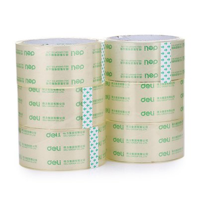 Deli 30171 6PCS Transparent Adhesive Tape for Office / SchoolOther Supplies<br>Deli 30171 6PCS Transparent Adhesive Tape for Office / School<br><br>Color: Transparent<br>Material: PC<br>Model: 30171<br>Package Contents: 6 x Deli 30171 Transparent Tape<br>Package size (L x W x H): 27.50 x 10.00 x 10.00 cm / 10.83 x 3.94 x 3.94 inches<br>Package weight: 0.7140 kg<br>Product weight: 0.6940 kg