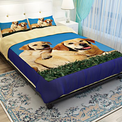 4-piece Polyester Bedding Set Golden Retriever PatternBedding Sets<br>4-piece Polyester Bedding Set Golden Retriever Pattern<br><br>Package Contents: 1 x Pillowcase, 1 x Duvet Cover, 1 x Flat Sheet, 1 x Fitted Sheet<br>Package size (L x W x H): 40.00 x 30.00 x 4.00 cm / 15.75 x 11.81 x 1.57 inches<br>Package weight: 1.5500 kg<br>Pattern Type: Animal<br>Product weight: 1.5000 kg<br>Type: Single