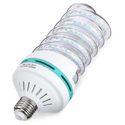 E27 30W 2835 SMD 150 LED Spiral Light AC 85 - 265VGlobe bulbs<br>E27 30W 2835 SMD 150 LED Spiral Light AC 85 - 265V<br><br>Available Light Color: White<br>CCT/Wavelength: 6000K<br>Emitter Types: SMD 2835<br>Features: Long Life Expectancy<br>Function: Commercial Lighting, Home Lighting<br>Holder: E27<br>Luminous Flux: 1920Lm<br>Package Contents: 1 x E27 Spiral Bulb, 1 x E27 Spiral Bulb<br>Package size (L x W x H): 9.00 x 9.00 x 22.00 cm / 3.54 x 3.54 x 8.66 inches, 9.00 x 9.00 x 22.00 cm / 3.54 x 3.54 x 8.66 inches<br>Package weight: 0.2500 kg<br>Product size (L x W x H): 8.00 x 8.00 x 21.00 cm / 3.15 x 3.15 x 8.27 inches<br>Product weight: 0.1540 kg<br>Sheathing Material: PC, Glass<br>Total Emitters: 150<br>Type: Spiral Bulb<br>Voltage (V): AC 85-265