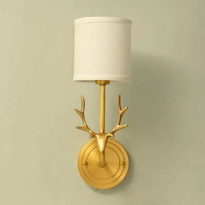 ZGPAX DJB1020 Antler Copper Body E14 Base Wall Light 220VWall Lights<br>ZGPAX DJB1020 Antler Copper Body E14 Base Wall Light 220V<br><br>Brand: ZGPAX<br>Bulb Base Type: E14<br>Bulb Included: Yes<br>CCT/Wavelength: 3000K,6000K<br>Illumination Field (sq.m.): 5-10sqm<br>Input Voltage: AC 220V<br>Luminous Flux: 300Lm<br>Optional Light Color: Warm White,White<br>Package Contents: 1 x Copper Body, 1 x Cloth Lampshade, 1 x E14 Light Bulb<br>Package size (L x W x H): 30.00 x 25.00 x 20.00 cm / 11.81 x 9.84 x 7.87 inches<br>Package weight: 2.4200 kg<br>Product size (L x W x H): 20.00 x 20.00 x 38.00 cm / 7.87 x 7.87 x 14.96 inches<br>Product weight: 1.7000 kg<br>Quantity of Spots: 1<br>Shade Material: Cloth, Copper<br>Type: Wall Light
