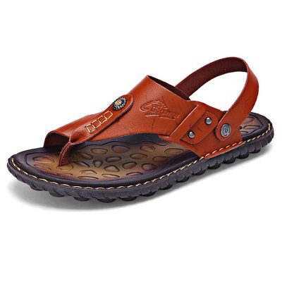 Leisure Sandals / Beach Shoes for MenMens Sandals<br>Leisure Sandals / Beach Shoes for Men<br><br>Contents: 1 x Pair of Shoes<br>Materials: Microfiber, Rubber<br>Occasion: Casual<br>Package Size ( L x W x H ): 33.00 x 22.00 x 11.00 cm / 12.99 x 8.66 x 4.33 inches<br>Package Weights: 0.65kg<br>Seasons: Summer<br>Style: Leisure, Comfortable<br>Type: Sandals