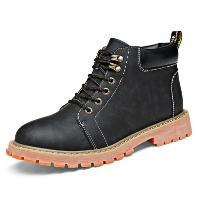 Microfiber Leather Short Boots for MenMens Boots<br>Microfiber Leather Short Boots for Men<br><br>Closure Type: Lace-Up<br>Color: Black<br>Contents: 1 x Pair of Boots<br>Function: Slip Resistant<br>Materials: Rubber, Microfiber<br>Occasion: Daily<br>Package Size ( L x W x H ): 33.00 x 22.00 x 11.00 cm / 12.99 x 8.66 x 4.33 inches<br>Package Weights: 0.97kg<br>Seasons: Autumn,Spring<br>Size: 44<br>Style: Fashion, Comfortable<br>Type: Boots
