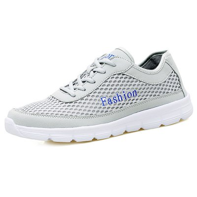 Men Breathable Mesh ShoesCasual Shoes<br>Men Breathable Mesh Shoes<br><br>Contents: 1 x Pair of Shoes<br>Materials: Mesh, Rubber<br>Occasion: Casual<br>Package Size ( L x W x H ): 33.00 x 22.00 x 11.00 cm / 12.99 x 8.66 x 4.33 inches<br>Package Weights: 0.67kg<br>Seasons: Autumn,Spring,Summer<br>Style: Leisure, Fashion, Comfortable<br>Type: Casual Shoes