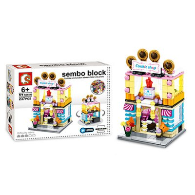 Sembo City Series Cookie Shop Building Blocks Bricks ToyBlock Toys<br>Sembo City Series Cookie Shop Building Blocks Bricks Toy<br><br>Brand: Sembo<br>Gender: Unisex<br>Materials: ABS<br>Package Contents: 1 x Sembo Building Blocks Toy<br>Package size: 28.00 x 5.80 x 21.00 cm / 11.02 x 2.28 x 8.27 inches<br>Package weight: 0.3730 kg<br>Product weight: 0.1640 kg<br>Suitable Age: Kid<br>Theme: Buildings<br>Type: Building