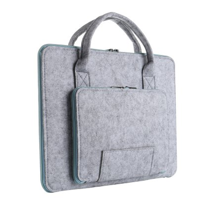 Soft Felt Protective Notebook Bag for 12 inch LaptopLaptop Bags<br>Soft Felt Protective Notebook Bag for 12 inch Laptop<br><br>Package Contents: 1 x Soft Felt Protective Notebook Bag<br>Package size (L x W x H): 36.00 x 28.00 x 5.00 cm / 14.17 x 11.02 x 1.97 inches<br>Package weight: 0.2800 kg<br>Product size (L x W x H): 34.50 x 26.40 x 4.00 cm / 13.58 x 10.39 x 1.57 inches<br>Product weight: 0.2580 kg<br>Size: 12 inch