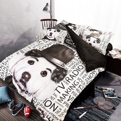 5-piece Polyester Bedding Set Dog PatternBedding Sets<br>5-piece Polyester Bedding Set Dog Pattern<br><br>Package Contents: 2 x Pillowcase, 1 x Duvet Cover, 1 x Flat Sheet, 1 x Fitted Sheet<br>Package size (L x W x H): 40.00 x 30.00 x 4.00 cm / 15.75 x 11.81 x 1.57 inches<br>Package weight: 2.0500 kg<br>Pattern Type: Novelty<br>Product weight: 2.0000 kg<br>Type: Double