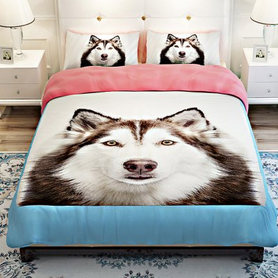 5-piece Polyester Bedding Set Alaskan Malamute PatternBedding Sets<br>5-piece Polyester Bedding Set Alaskan Malamute Pattern<br><br>Package Contents: 2 x Pillowcase, 1 x Duvet Cover, 1 x Flat Sheet, 1 x Fitted Sheet<br>Package size (L x W x H): 40.00 x 30.00 x 4.00 cm / 15.75 x 11.81 x 1.57 inches<br>Package weight: 2.0500 kg<br>Pattern Type: Animal<br>Product weight: 2.0000 kg<br>Type: Double