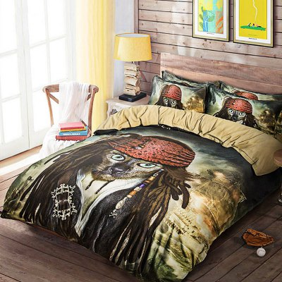 5-piece Polyester Bedding Set Pirate PatternBedding Sets<br>5-piece Polyester Bedding Set Pirate Pattern<br><br>Package Contents: 2 x Pillowcase, 1 x Duvet Cover, 1 x Flat Sheet, 1 x Fitted Sheet<br>Package size (L x W x H): 40.00 x 30.00 x 4.00 cm / 15.75 x 11.81 x 1.57 inches<br>Package weight: 2.0500 kg<br>Pattern Type: Novelty<br>Product weight: 2.0000 kg<br>Type: Double