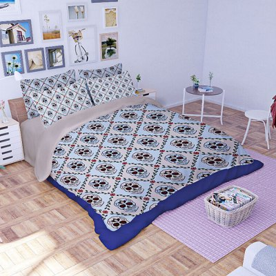 5-piece Polyester Bedding Set Rhombus / Skulls PatternBedding Sets<br>5-piece Polyester Bedding Set Rhombus / Skulls Pattern<br><br>Package Contents: 2 x Pillowcase, 1 x Duvet Cover, 1 x Flat Sheet, 1 x Fitted Sheet<br>Package size (L x W x H): 40.00 x 30.00 x 4.00 cm / 15.75 x 11.81 x 1.57 inches<br>Package weight: 2.0500 kg<br>Pattern Type: Geometric, Novelty<br>Product weight: 2.0000 kg<br>Type: Double