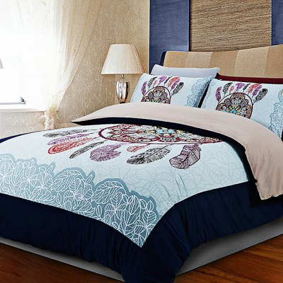 5-piece Polyester Bedding Set Totem PatternBedding Sets<br>5-piece Polyester Bedding Set Totem Pattern<br><br>Package Contents: 2 x Pillowcase, 1 x Duvet Cover, 1 x Flat Sheet, 1 x Fitted Sheet<br>Package size (L x W x H): 40.00 x 30.00 x 4.00 cm / 15.75 x 11.81 x 1.57 inches<br>Package weight: 2.2500 kg<br>Pattern Type: Novelty<br>Product weight: 2.2000 kg<br>Type: Double