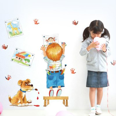 Cartoon Wall Sticker WallpaperWall Stickers<br>Cartoon Wall Sticker Wallpaper<br><br>Art Style: Plane Wall Stickers<br>Color Scheme: Multicolor<br>Hang In/Stick On: Bedrooms,Kids Room,Living Rooms<br>Material: Self-adhesive Plastic, Vinyl(PVC)<br>Package Contents: 1 x Sticker<br>Package size (L x W x H): 55.00 x 5.00 x 5.00 cm / 21.65 x 1.97 x 1.97 inches<br>Package weight: 0.1220 kg<br>Product size (L x W x H): 50.00 x 70.00 x 0.10 cm / 19.69 x 27.56 x 0.04 inches<br>Product weight: 0.1000 kg