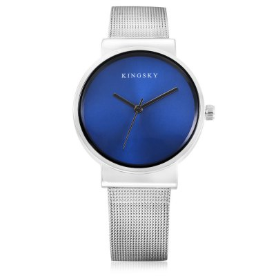 KINGSKY 371M Quartz Men WatchMens Watches<br>KINGSKY 371M Quartz Men Watch<br><br>Available Color: Black,Blue,Red,White<br>Band material: Steel<br>Band size: 24 x 1.6cm<br>Brand: Kingsky<br>Case material: Alloy<br>Clasp type: Sheet folding clasp<br>Dial size: 3.7 x 3.7 x 0.92cm<br>Display type: Analog<br>Movement type: Quartz watch<br>Package Contents: 1 x Watch<br>Package size (L x W x H): 26.00 x 5.70 x 2.92 cm / 10.24 x 2.24 x 1.15 inches<br>Package weight: 0.0740 kg<br>Product size (L x W x H): 24.00 x 3.70 x 0.92 cm / 9.45 x 1.46 x 0.36 inches<br>Product weight: 0.0470 kg<br>Shape of the dial: Round<br>Watch style: Fashion<br>Watches categories: Men