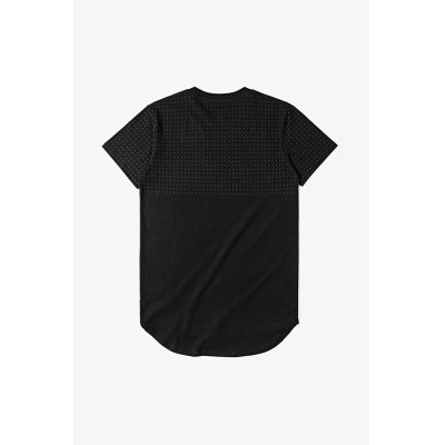 Long Round Hem T-shirt for MenMens Short Sleeve Tees<br>Long Round Hem T-shirt for Men<br><br>Fabric Type: Cotton<br>Material: Cotton<br>Neckline: Round Neck<br>Package Content: 1 x T-shirt<br>Package size: 30.00 x 35.00 x 0.50 cm / 11.81 x 13.78 x 0.2 inches<br>Package weight: 0.2500 kg<br>Product weight: 0.2000 kg<br>Season: Summer<br>Sleeve Length: Short Sleeves