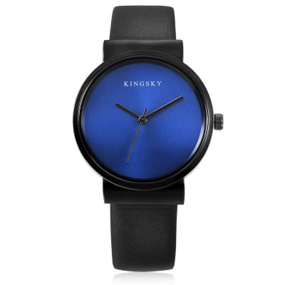 KINGSKY 371M Quartz Men WristwatchMens Watches<br>KINGSKY 371M Quartz Men Wristwatch<br><br>Available Color: Black,Blue<br>Band material: Leather<br>Band size: 24 x 1.6cm<br>Case material: Alloy<br>Clasp type: Pin buckle<br>Dial size: 3.7 x 3.7 x 0.92cm<br>Display type: Analog<br>Movement type: Quartz watch<br>Package Contents: 1 x Wristwatch<br>Package size (L x W x H): 26.00 x 5.70 x 2.92 cm / 10.24 x 2.24 x 1.15 inches<br>Package weight: 0.0640 kg<br>Product size (L x W x H): 24.00 x 3.70 x 0.92 cm / 9.45 x 1.46 x 0.36 inches<br>Product weight: 0.0350 kg<br>Shape of the dial: Round<br>Watch style: Fashion<br>Watches categories: Men<br>Wearable length: 18 - 22cm