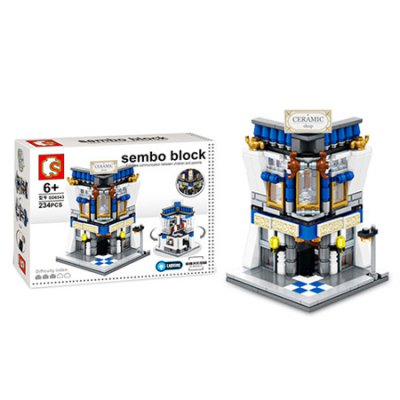Sembo City Series Ceramic Shop Building Blocks Bricks ToyBlock Toys<br>Sembo City Series Ceramic Shop Building Blocks Bricks Toy<br><br>Brand: Sembo<br>Gender: Unisex<br>Materials: ABS<br>Package Contents: 1 x Sembo Building Blocks Toy<br>Package size: 28.00 x 5.80 x 21.00 cm / 11.02 x 2.28 x 8.27 inches<br>Package weight: 0.3610 kg<br>Product weight: 0.1350 kg<br>Suitable Age: Kid<br>Theme: Buildings<br>Type: Building