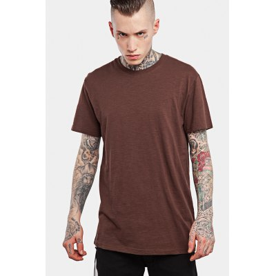 Casual Round Neck T-shirt for MenMens Short Sleeve Tees<br>Casual Round Neck T-shirt for Men<br><br>Fabric Type: Cotton<br>Material: Cotton<br>Neckline: Round Neck<br>Package Content: 1 x T-shirt<br>Package size: 30.00 x 35.00 x 0.50 cm / 11.81 x 13.78 x 0.2 inches<br>Package weight: 0.2500 kg<br>Product weight: 0.2000 kg<br>Season: Summer<br>Sleeve Length: Short Sleeves<br>Style: Casual