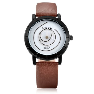 MILER 90021 Quartz Unisex WristwatchUnisex Watches<br>MILER 90021 Quartz Unisex Wristwatch<br><br>Available Color: Black,Blue,Brown,Green,Orange,White<br>Band material: Leather<br>Band size: 24 x 1.8cm<br>Brand: Miler<br>Case material: Alloy<br>Clasp type: Pin buckle<br>Dial size: 3.3 x 3.3 x 0.77cm<br>Display type: Analog<br>Movement type: Quartz watch<br>Package Contents: 1 x Wristwatch<br>Package size (L x W x H): 26.00 x 5.30 x 2.77 cm / 10.24 x 2.09 x 1.09 inches<br>Package weight: 0.0610 kg<br>People: Unisex table<br>Product size (L x W x H): 24.00 x 3.30 x 0.77 cm / 9.45 x 1.3 x 0.3 inches<br>Product weight: 0.0380 kg<br>Shape of the dial: Round<br>Watch style: Fashion<br>Wearable length: 19 - 23cm