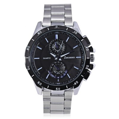 ZUEJANNES 8833G Business Men WatchMens Watches<br>ZUEJANNES 8833G Business Men Watch<br><br>Available Color: Black,White<br>Band material: Stainless Steel<br>Band size: 23.5 x 2cm<br>Case material: Alloy<br>Clasp type: Folding clasp with safety<br>Dial size: 4.31 x 4.31 x 1.4cm<br>Display type: Analog<br>Movement type: Quartz watch<br>Package Contents: 1 x Watch<br>Package size (L x W x H): 25.50 x 6.31 x 3.40 cm / 10.04 x 2.48 x 1.34 inches<br>Package weight: 0.1900 kg<br>Product size (L x W x H): 23.50 x 4.31 x 1.40 cm / 9.25 x 1.7 x 0.55 inches<br>Product weight: 0.1500 kg<br>Shape of the dial: Round<br>Watch style: Fashion, Business<br>Watches categories: Men