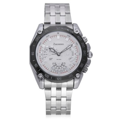 ZUEJANNES 80102G Quartz Men WristwatchMens Watches<br>ZUEJANNES 80102G Quartz Men Wristwatch<br><br>Available Color: Black,White<br>Band material: Stainless Steel<br>Band size: 23.5 x 2cm<br>Case material: Alloy<br>Clasp type: Folding clasp with safety<br>Dial size: 4.31 x 4.31 x 1.4cm<br>Display type: Analog<br>Movement type: Quartz watch<br>Package Contents: 1 x Wristwatch<br>Package size (L x W x H): 25.50 x 6.31 x 3.40 cm / 10.04 x 2.48 x 1.34 inches<br>Package weight: 0.1640 kg<br>Product size (L x W x H): 23.50 x 4.31 x 1.40 cm / 9.25 x 1.7 x 0.55 inches<br>Product weight: 0.1240 kg<br>Shape of the dial: Round<br>Watch style: Fashion, Business<br>Watches categories: Men<br>Water resistance : 30 meters