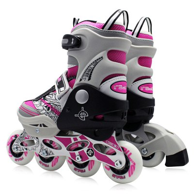 AODESAI Pair of Kids Racing Single Row Roller Skating ShoesSkateboard<br>AODESAI Pair of Kids Racing Single Row Roller Skating Shoes<br><br>Brand: AODESAI<br>Package Content: 1 x AODESAI Pair of Roller Skating Shoes<br>Package size: 45.00 x 12.00 x 16.00 cm / 17.72 x 4.72 x 6.3 inches<br>Package weight: 3.1000 kg