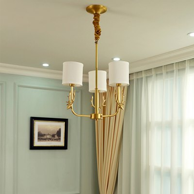 ZGPAX DJB1022 Antler Copper Pendant LightChandelier<br>ZGPAX DJB1022 Antler Copper Pendant Light<br><br>Battery Included: No<br>Brand: ZGPAX<br>Bulb Base: E14<br>Bulb Included: Yes<br>Chain / Cord Length ( CM ): 50<br>Features: Candle Style<br>Fixture Height ( CM ): 53<br>Fixture Length ( CM ): 43<br>Fixture Width ( CM ): 43<br>Light Direction: Uplight<br>Number of Bulb: 3 Bulbs<br>Number of Bulb Sockets: 3<br>Package Contents: 1 x Copper Body, 3 x Lampshade, 3 x Light Bulb<br>Package size (L x W x H): 59.00 x 38.00 x 20.00 cm / 23.23 x 14.96 x 7.87 inches<br>Package weight: 5.8200 kg<br>Product weight: 4.8000 kg<br>Shade Material: Copper, Cloth<br>Style: Modern/Contemporary<br>Suggested Room Size: 10 - 15?<br>Suggested Space Fit: Bedroom,Dining Room,Study Room<br>Type: Chandeliers<br>Voltage ( V ): 220V<br>Wattage (W): 5