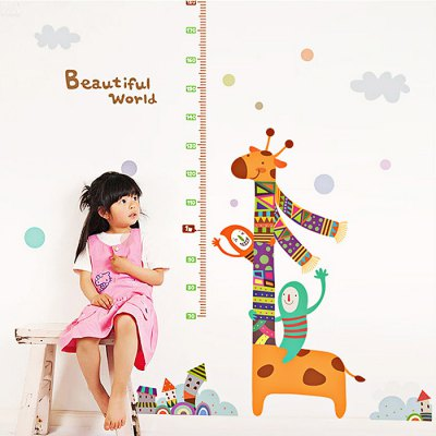 Kids Cartoon Giraffe Height Wall StickerWall Stickers<br>Kids Cartoon Giraffe Height Wall Sticker<br><br>Art Style: Plane Wall Stickers<br>Color Scheme: Multicolor<br>Functions: Decorative Wall Stickers<br>Hang In/Stick On: Bedrooms,Kids Room,Living Rooms<br>Material: Self-adhesive Plastic, Vinyl(PVC)<br>Package Contents: 1 x Sticker<br>Package size (L x W x H): 60.00 x 5.00 x 5.00 cm / 23.62 x 1.97 x 1.97 inches<br>Package weight: 0.1520 kg<br>Product size (L x W x H): 60.00 x 90.00 x 0.10 cm / 23.62 x 35.43 x 0.04 inches<br>Product weight: 0.1300 kg<br>Sizes: 60 x 90cm<br>Subjects: Animal