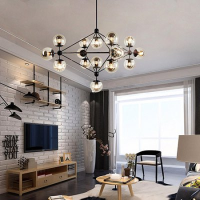 Nordic Creative Glass Ball Chandelier 220VPendant Light<br>Nordic Creative Glass Ball Chandelier 220V<br><br>Beam Angle: 360 degree<br>Bulb Base Type: E27<br>Bulb Included: Yes<br>CCT/Wavelength: 3000K<br>Function: Home Lighting, Studio and Exhibition Lighting<br>Illumination Field: 25sqm<br>Luminous Flux: 7100LM<br>Output Power: 75W<br>Package Contents: 1 x Chandelier, 1 x Assembly Parts, 15 x Light Bulb<br>Package size (L x W x H): 117.00 x 91.00 x 85.00 cm / 46.06 x 35.83 x 33.46 inches<br>Package weight: 11.0400 kg<br>Product size (L x W x H): 107.00 x 81.00 x 81.00 cm / 42.13 x 31.89 x 31.89 inches<br>Product weight: 10.0000 kg<br>Sheathing Material: Iron<br>Style: Trendy<br>Type: Chandeliers<br>Voltage (V): AC 220