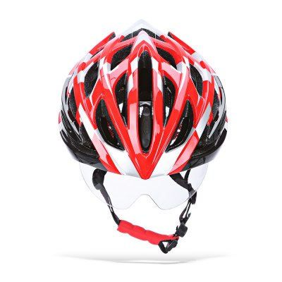 ROCKBROS Protective Cycling Helmet with Windproof GlassesBike Helmets<br>ROCKBROS Protective Cycling Helmet with Windproof Glasses<br><br>Brand: ROCKBROS<br>Features: Detachable Sun Visor<br>Material: EPS + PC<br>Package Contents: 1 x ROCKBROS Cycling Helmet, 3 x Windproof Glasses ( One in Helmet ), 1 x Glasses Accessory<br>Packge Weight: 0.7680 kg<br>Product Dimension: 28.00 x 21.00 x 13.00 cm / 11.02 x 8.27 x 5.12 inches<br>Product weight: 0.2830 kg<br>Suitable for: Road Bike, Mountain Bicycle, Motorcycle, Touring Bicycle