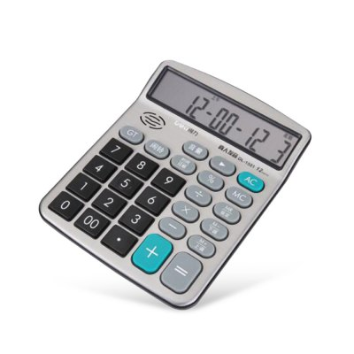 Deli 1551A Talking Calculator 12 Digit Calculating ToolDesk Organizers<br>Deli 1551A Talking Calculator 12 Digit Calculating Tool<br><br>Brand: Deli<br>Features: Talking<br>Model: 1551A<br>Package Contents: 1 x Deli 1551A Talking Calculator<br>Package size (L x W x H): 26.00 x 18.50 x 4.50 cm / 10.24 x 7.28 x 1.77 inches<br>Package weight: 0.2600 kg<br>Product size (L x W x H): 18.00 x 14.50 x 2.00 cm / 7.09 x 5.71 x 0.79 inches<br>Product weight: 0.2400 kg