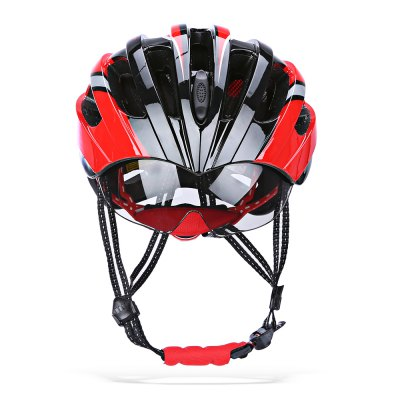 ROCKBROS Shockproof Cycling Helmet with Windproof GlassesBike Helmets<br>ROCKBROS Shockproof Cycling Helmet with Windproof Glasses<br><br>Brand: ROCKBROS<br>Features: Detachable Sun Visor<br>Material: EPS + PC<br>Package Contents: 1 x ROCKBROS Cycling Helmet, 3 x Windproof Glasses ( One in Helmet ), 1 x Glasses Accessory<br>Packge Weight: 0.7350 kg<br>Product Dimension: 28.00 x 21.00 x 13.00 cm / 11.02 x 8.27 x 5.12 inches<br>Product weight: 0.2660 kg<br>Suitable for: Road Bike, Mountain Bicycle, Motorcycle, Touring Bicycle
