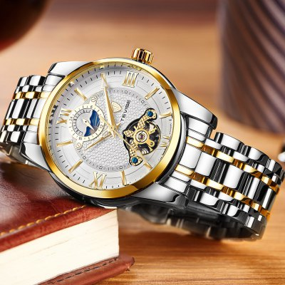 TEVISE T805D Mechanical Men WatchMens Watches<br>TEVISE T805D Mechanical Men Watch<br><br>Available Color: Black,Blue,Gold,White<br>Band material: Stainless Steel<br>Band size: 20 x 2cm<br>Brand: Tevise<br>Case material: Alloy<br>Clasp type: Butterfly clasp<br>Dial size: 3.8 x 3.8 x 1.5cm<br>Display type: Analog<br>Movement type: Mechanical watch<br>Package Contents: 1 x Watch, 1 x Box<br>Package size (L x W x H): 10.00 x 10.00 x 6.00 cm / 3.94 x 3.94 x 2.36 inches<br>Package weight: 0.3620 kg<br>Product size (L x W x H): 20.00 x 3.80 x 1.50 cm / 7.87 x 1.5 x 0.59 inches<br>Product weight: 0.1420 kg<br>Shape of the dial: Round<br>Watch style: Fashion<br>Watches categories: Men