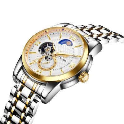 TEVISE T805C Mechanical Men WatchMens Watches<br>TEVISE T805C Mechanical Men Watch<br><br>Available Color: Black,Blue,Gold,White<br>Band material: Stainless Steel<br>Band size: 20 x 2cm<br>Brand: Tevise<br>Case material: Alloy<br>Clasp type: Butterfly clasp<br>Dial size: 3.8 x 3.8 x 1.5cm<br>Display type: Analog<br>Movement type: Mechanical watch<br>Package Contents: 1 x Watch, 1 x Box<br>Package size (L x W x H): 10.00 x 10.00 x 6.00 cm / 3.94 x 3.94 x 2.36 inches<br>Package weight: 0.3610 kg<br>Product size (L x W x H): 20.00 x 3.80 x 1.50 cm / 7.87 x 1.5 x 0.59 inches<br>Product weight: 0.1410 kg<br>Shape of the dial: Round<br>Watch style: Business, Fashion<br>Watches categories: Men