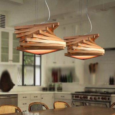 E27 Lamp Base LED Modern Wooden Pendant Light 220VPendant Light<br>E27 Lamp Base LED Modern Wooden Pendant Light 220V<br><br>Battery Included: No<br>Bulb Base: E27<br>Bulb Included: No<br>Chain / Cord Length ( CM ): 90<br>Features: Designers<br>Fixture Height ( CM ): 19<br>Fixture Length ( CM ): 42<br>Fixture Width ( CM ): 42<br>Light Direction: Downlight<br>Number of Bulb: 1 Bulb<br>Number of Bulb Sockets: 1<br>Package Contents: 1 x Ceiling Light, 1 x Installation Component Kit<br>Package size (L x W x H): 52.00 x 52.00 x 25.00 cm / 20.47 x 20.47 x 9.84 inches<br>Package weight: 5.0300 kg<br>Product weight: 4.0000 kg<br>Shade Material: Metal, Wood<br>Style: Modern/Contemporary<br>Suggested Room Size: 10 - 15?<br>Suggested Space Fit: Bedroom,Dining Room,Living Room,Study Room<br>Type: Pendant Light<br>Voltage ( V ): 220V<br>Wattage (W): &gt;20