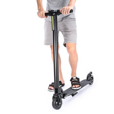 Aluminum Alloy 6600mAh 5.5 inch Tire Folding Electric ScooterSkateboard<br>Aluminum Alloy 6600mAh 5.5 inch Tire Folding Electric Scooter<br><br>Battery: Li-ion battery<br>Battery Capacity: 6600mAh<br>Battery Rate: 58W<br>Charger type: EU plug<br>Charging Time: 4 hours<br>Displaying Screen Size: 3.3 x 2.3cm<br>Folding Type: Folding<br>Light: Front Lamp,Tail Light<br>Material: Aluminum Alloy<br>Max Payload: 120kg<br>Maximum Mileage: 15km<br>Maximum Speed: 25km/h<br>Mileage (depends on road and driver weight): 15-20km<br>Motor Rated Power: 250W<br>Package Content: 1 x Electric Scooter, 1 x Adapter, 1 x Plug<br>Package size: 107.00 x 29.50 x 17.50 cm / 42.13 x 11.61 x 6.89 inches<br>Package weight: 9.0000 kg<br>Pedal Ground Clearance (no weight bearing): 1 x Electric Scooter, 1 x Adapter, 1 x EU Plug<br>Permissible Gradient (depends on your weight): 16-20 degree<br>Product size: 92.00 x 42.00 x 101.00 cm / 36.22 x 16.54 x 39.76 inches<br>Product weight: 6.4500 kg<br>Seat Type: without Seat<br>Type: Electric Kick Scooter<br>Wheel Number: 2 Wheel<br>Working Temperature: -15 - 40 Deg.C