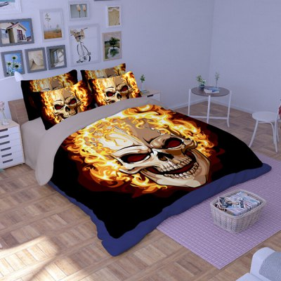 5-piece Polyester Bedding Set Death Fire PatternBedding Sets<br>5-piece Polyester Bedding Set Death Fire Pattern<br><br>Package Contents: 2 x Pillowcase, 1 x Duvet Cover, 1 x Flat Sheet, 1 x Fitted Sheet<br>Package size (L x W x H): 40.00 x 30.00 x 4.00 cm / 15.75 x 11.81 x 1.57 inches<br>Package weight: 2.2500 kg<br>Pattern Type: Novelty<br>Product weight: 2.2000 kg<br>Type: Double