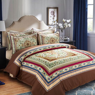 5-piece Polyester Bedding Set Elegant Floral PatternBedding Sets<br>5-piece Polyester Bedding Set Elegant Floral Pattern<br><br>Package Contents: 2 x Pillowcase, 1 x Duvet Cover, 1 x Flat Sheet, 1 x Fitted Sheet<br>Package size (L x W x H): 40.00 x 30.00 x 5.00 cm / 15.75 x 11.81 x 1.97 inches<br>Package weight: 2.2500 kg<br>Pattern Type: Flower<br>Product weight: 2.2000 kg<br>Style: Plant / Flower<br>Type: Double