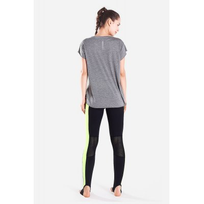Women Round Collar Sports T-shirtYoga<br>Women Round Collar Sports T-shirt<br><br>Features: Quick Dry<br>Gender: Female<br>Package Content: 1 x T-shirt<br>Package size: 30.00 x 35.00 x 0.50 cm / 11.81 x 13.78 x 0.2 inches<br>Package weight: 0.1700 kg<br>Product weight: 0.1250 kg