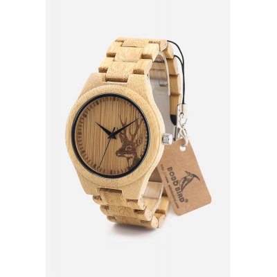 BOBO BIRD D28 Bamboo Quartz Watch Wooden StrapMens Watches<br>BOBO BIRD D28 Bamboo Quartz Watch Wooden Strap<br><br>Band material: Bamboo<br>Band size: 25 x 2cm<br>Brand: BOBO BIRD<br>Case material: Bamboo<br>Clasp type: Sheet folding clasp<br>Dial size: 4.4 x 4.4 x 2cm<br>Display type: Analog<br>Movement type: Quartz watch<br>Package Contents: 1 x D28 Watch, 1 x Box<br>Package size (L x W x H): 8.70 x 8.20 x 5.40 cm / 3.43 x 3.23 x 2.13 inches<br>Package weight: 0.1750 kg<br>Product size (L x W x H): 25.00 x 4.40 x 2.00 cm / 9.84 x 1.73 x 0.79 inches<br>Product weight: 0.1000 kg<br>Shape of the dial: Round<br>Watch style: Casual, Fashion<br>Watches categories: Male table<br>Wearable length: 25cm