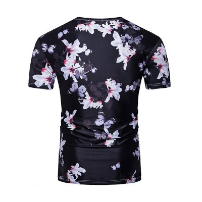 Men Stylish 3D Printed T-shirtMens Short Sleeve Tees<br>Men Stylish 3D Printed T-shirt<br><br>Neckline: Round Neck<br>Package Content: 1 x T-shirt<br>Package size: 40.00 x 30.00 x 2.00 cm / 15.75 x 11.81 x 0.79 inches<br>Package weight: 0.2700 kg<br>Product weight: 0.2000 kg<br>Season: Summer<br>Sleeve Length: Short Sleeves