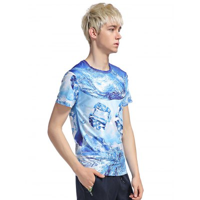 Men Comfortable 3D Printed T-shirtMens Short Sleeve Tees<br>Men Comfortable 3D Printed T-shirt<br><br>Fabric Type: Cotton, Polyester<br>Neckline: Round Neck<br>Package Content: 1 x T-shirt<br>Package size: 40.00 x 30.00 x 3.00 cm / 15.75 x 11.81 x 1.18 inches<br>Package weight: 0.2700 kg<br>Product weight: 0.2000 kg<br>Season: Summer<br>Sleeve Length: Short Sleeves