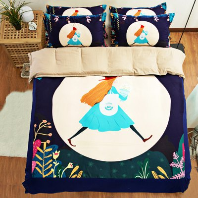 5-piece Polyester Bedding Set Cartoon Fashion Girl PatternBedding Sets<br>5-piece Polyester Bedding Set Cartoon Fashion Girl Pattern<br><br>Package Contents: 2 x Pillowcase, 1 x Duvet Cover, 1 x Flat Sheet, 1 x Fitted Sheet<br>Package size (L x W x H): 40.00 x 30.00 x 4.00 cm / 15.75 x 11.81 x 1.57 inches<br>Package weight: 2.2500 kg<br>Product weight: 2.2000 kg<br>Style: Cartoon / Anime<br>Type: Double